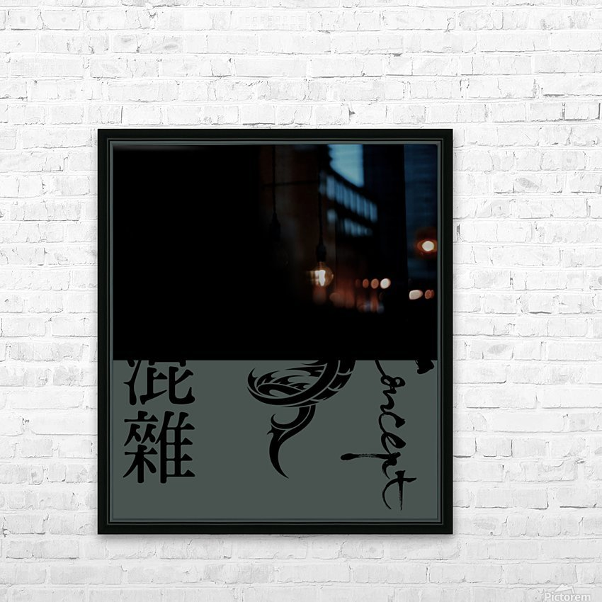Chinese Concept 56A HD Sublimation Metal print with Decorating Float Frame (BOX)