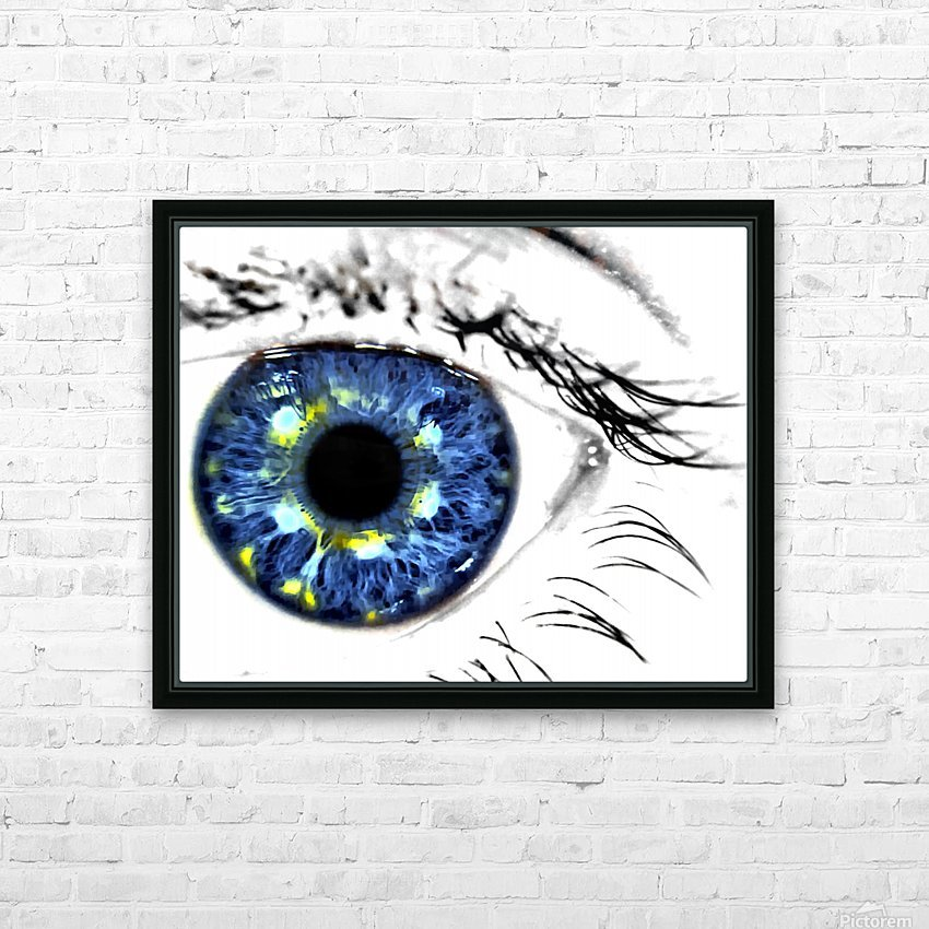 Eye Art 1 HD Sublimation Metal print with Decorating Float Frame (BOX)