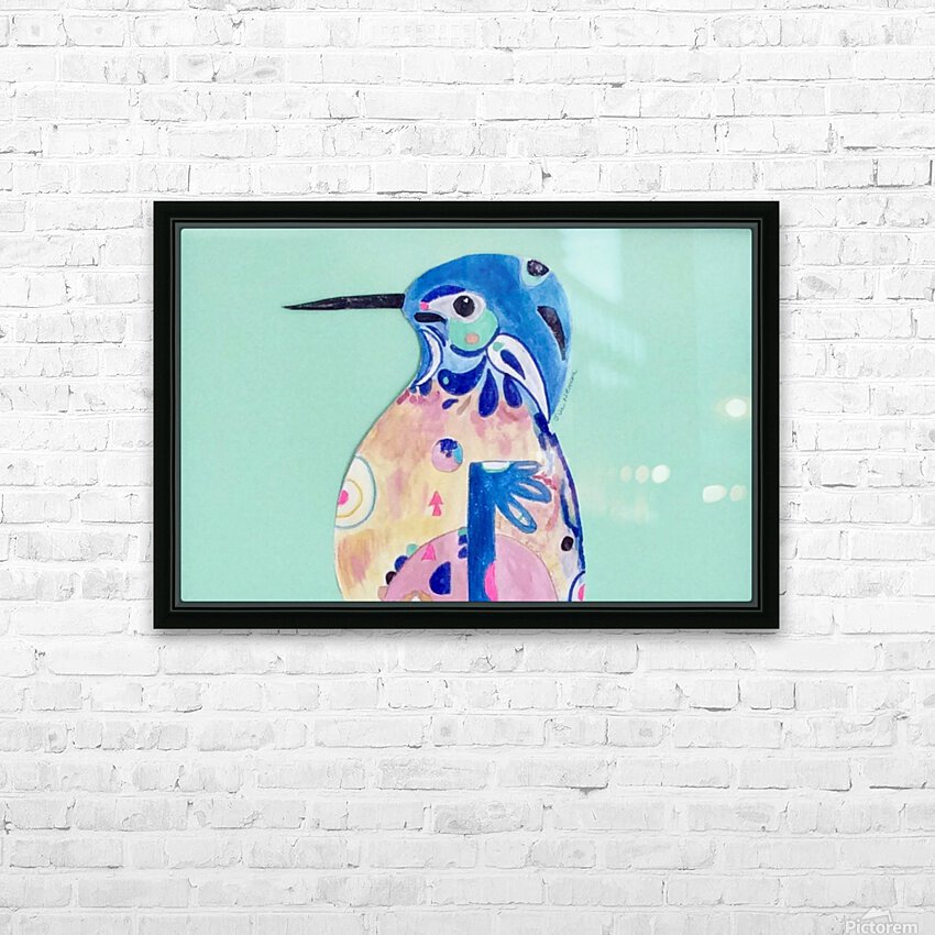 Azure Kingfisher  HD Sublimation Metal print with Decorating Float Frame (BOX)