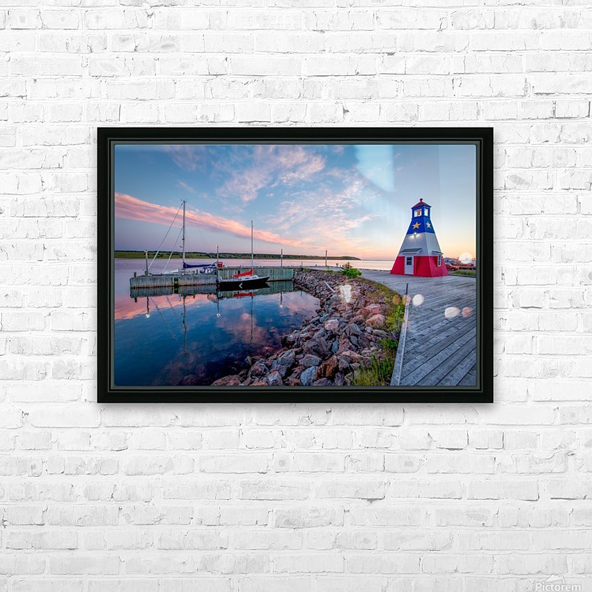 Acadian Skies HD Sublimation Metal print with Decorating Float Frame (BOX)