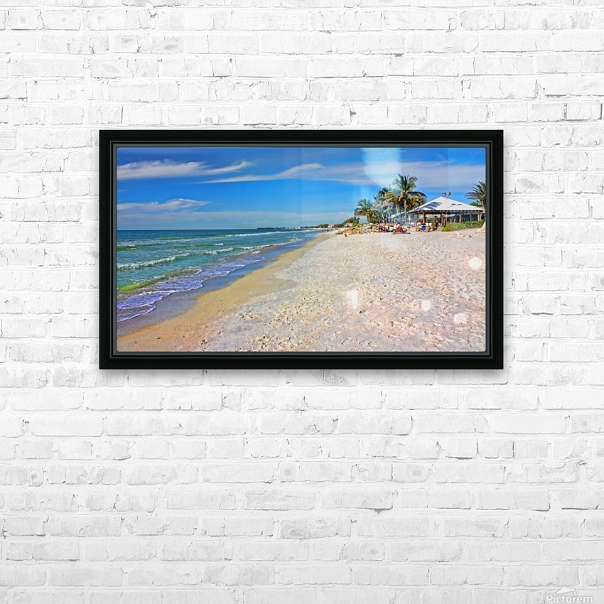 Beach Time  HD Sublimation Metal print with Decorating Float Frame (BOX)