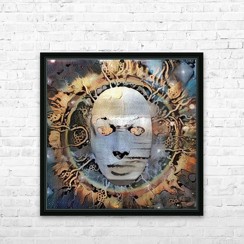 The Mask of Mystery HD Sublimation Metal print with Decorating Float Frame (BOX)