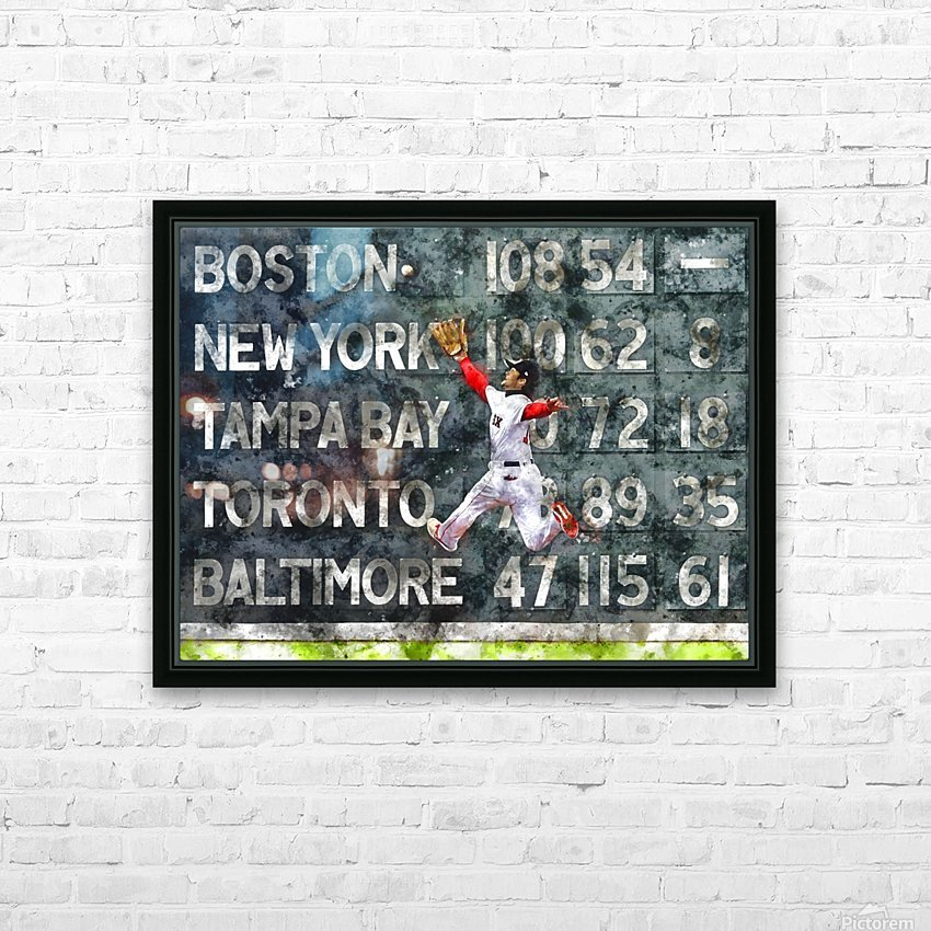 ANDREW BENINTENDI Water Color Print - Boston Red Sox Print HD Sublimation Metal print with Decorating Float Frame (BOX)