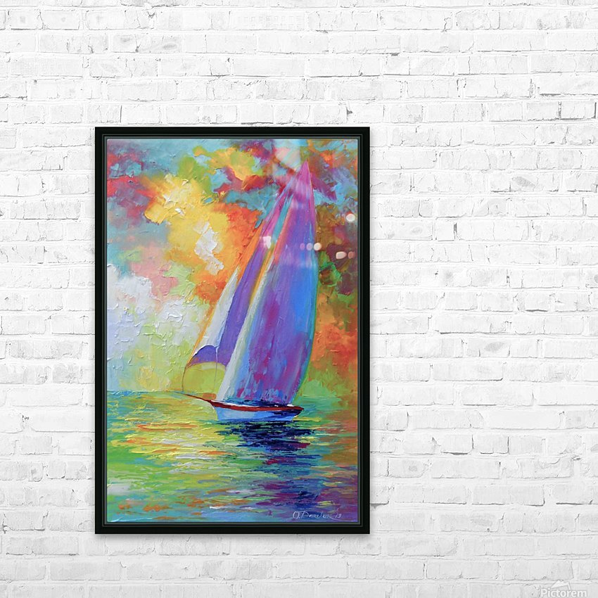Sailboat HD Sublimation Metal print with Decorating Float Frame (BOX)