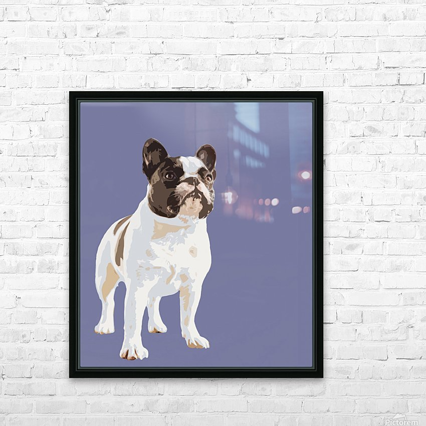 French Bulldog Pop art HD Sublimation Metal print with Decorating Float Frame (BOX)