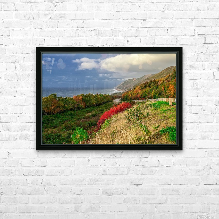 Cabot Trail Colors HD Sublimation Metal print with Decorating Float Frame (BOX)
