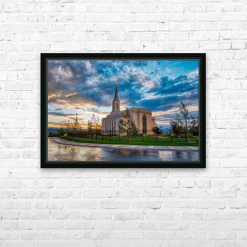 Star Valley Wyoming Temple - The Church of Jesus Christ of Latter-day Saints HD Sublimation Metal print with Decorating Float Frame (BOX)