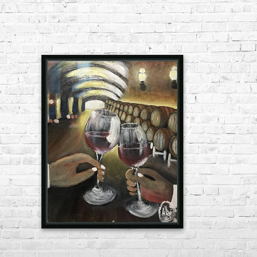 A wine Tasting  HD Sublimation Metal print with Decorating Float Frame (BOX)