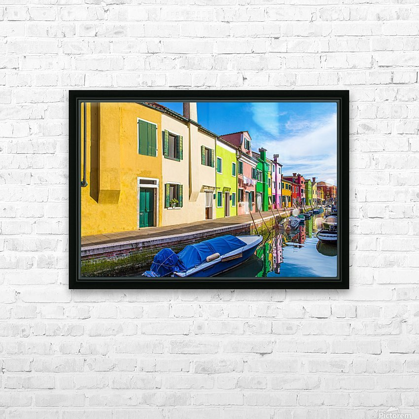 Boats in Burano HD Sublimation Metal print with Decorating Float Frame (BOX)