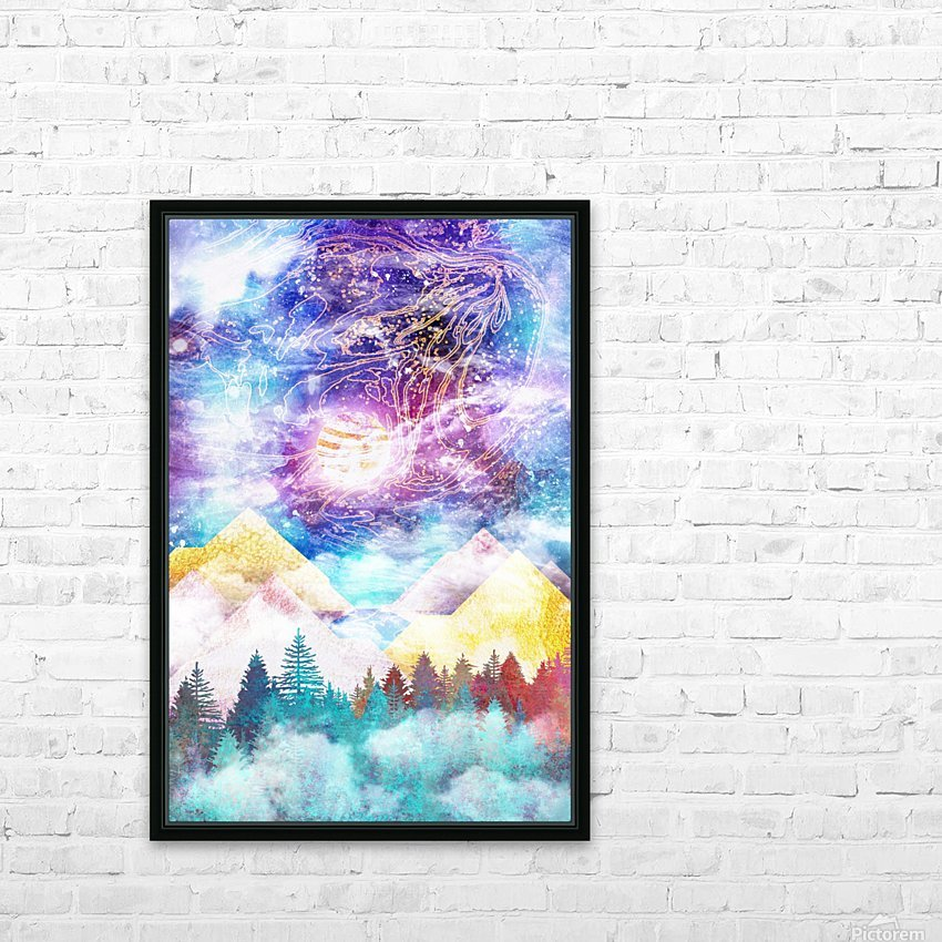 Beauty of Nature   Illustration VI HD Sublimation Metal print with Decorating Float Frame (BOX)