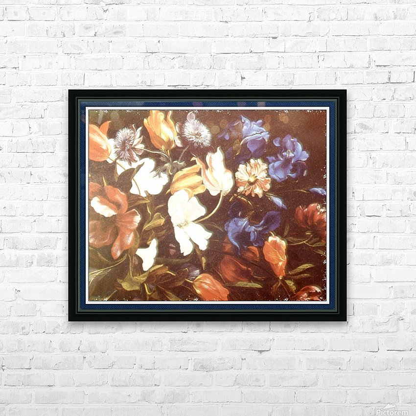 Brilliant Floral Display HD Sublimation Metal print with Decorating Float Frame (BOX)