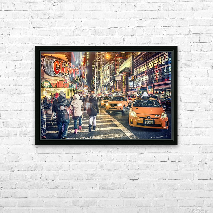 New York City Taxi Mayhem  HD Sublimation Metal print with Decorating Float Frame (BOX)