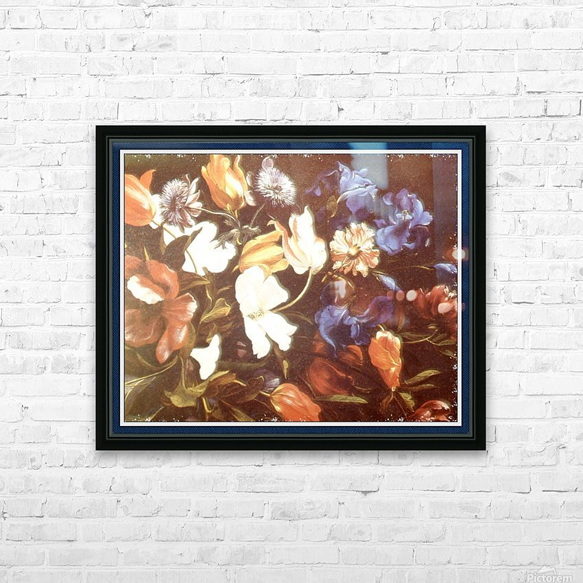 . Floral Explosion   9 HD Sublimation Metal print with Decorating Float Frame (BOX)