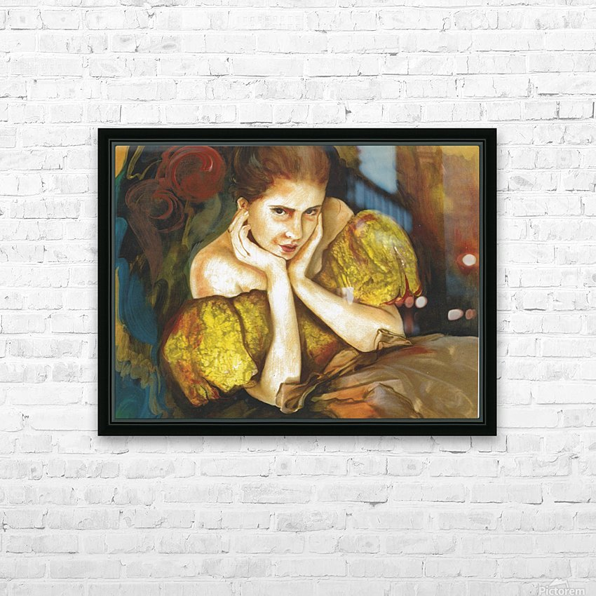 Flirty Girl 2   HD Sublimation Metal print with Decorating Float Frame (BOX)