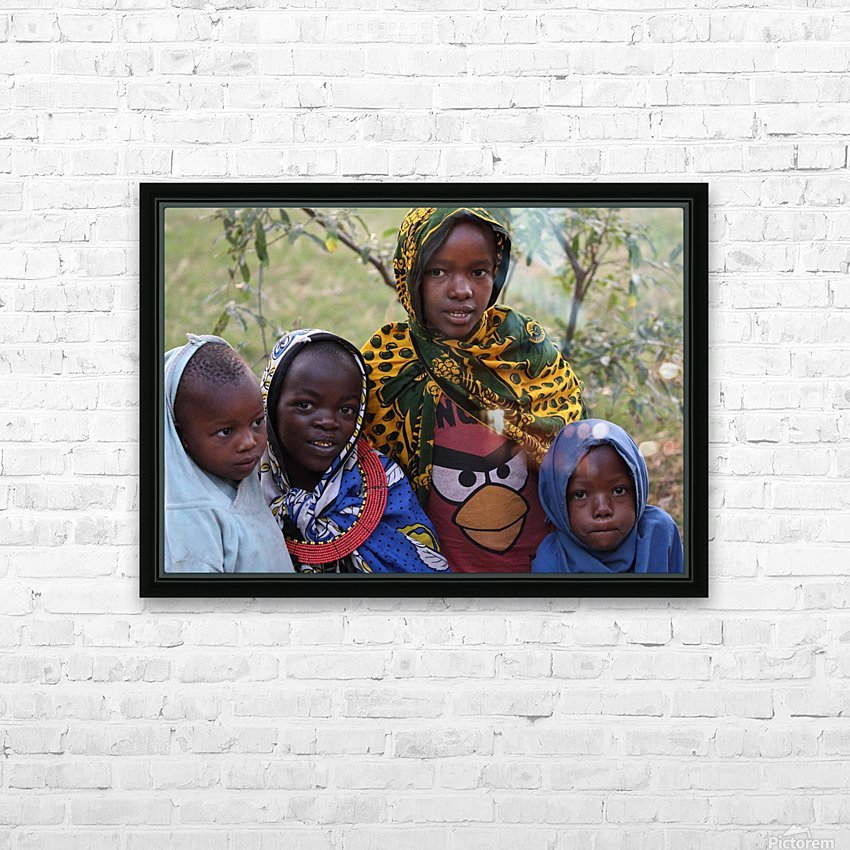 Faces of Africa HD Sublimation Metal print with Decorating Float Frame (BOX)