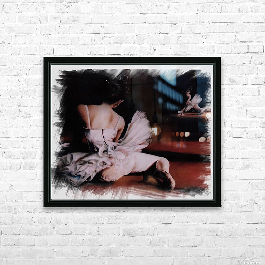 Ballerina In The Mirror .  HD Sublimation Metal print with Decorating Float Frame (BOX)