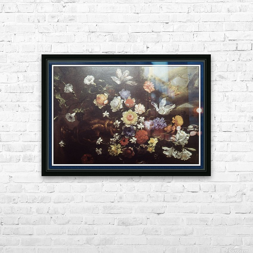 Howard010_Fotor floral1 copy HD Sublimation Metal print with Decorating Float Frame (BOX)