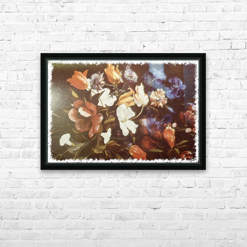 Floral Explosion  HD Sublimation Metal print with Decorating Float Frame (BOX)