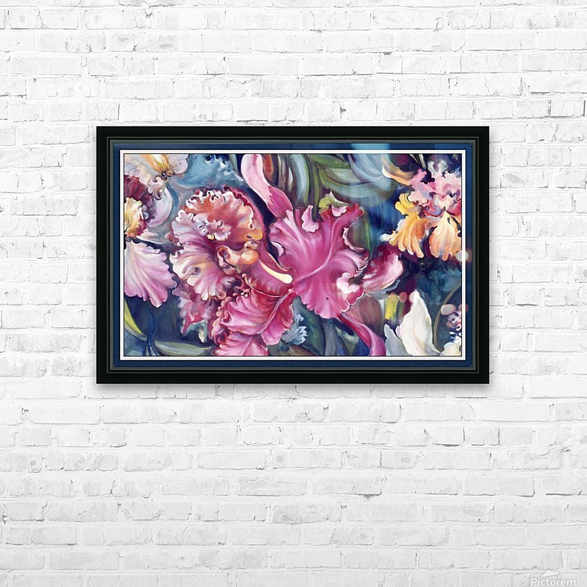 Orchids Blooming  HD Sublimation Metal print with Decorating Float Frame (BOX)