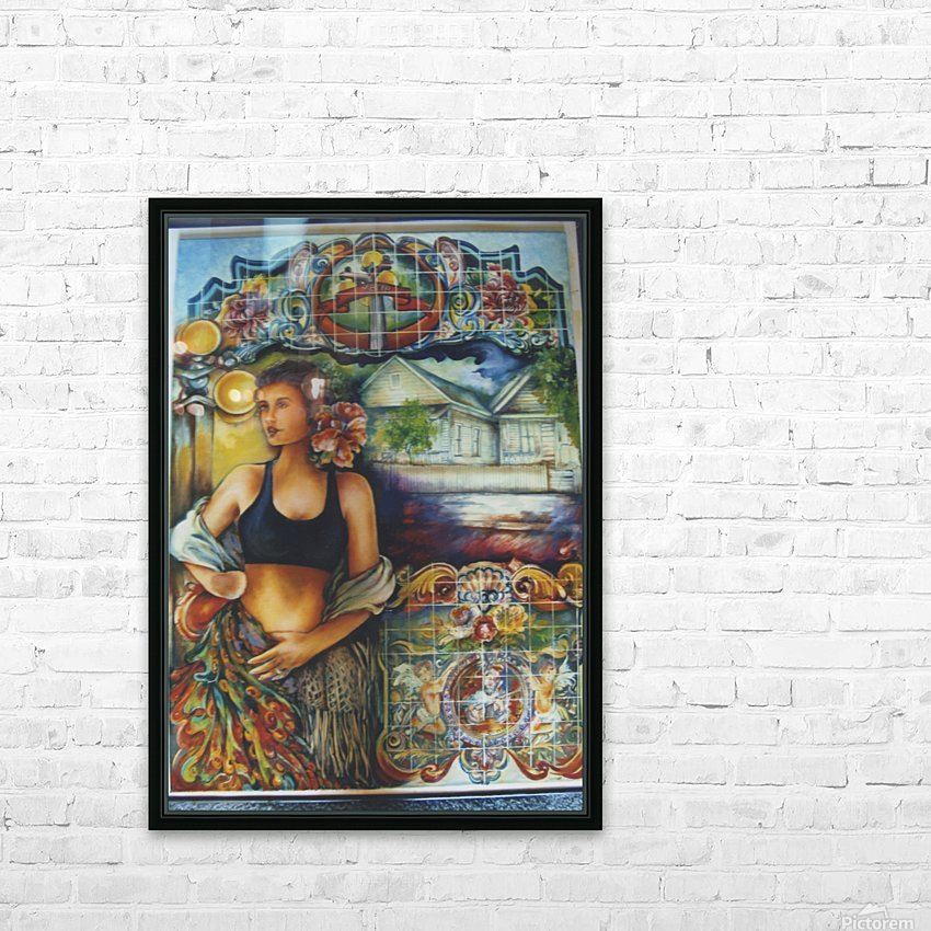 Flamenco Dancer  HD Sublimation Metal print with Decorating Float Frame (BOX)