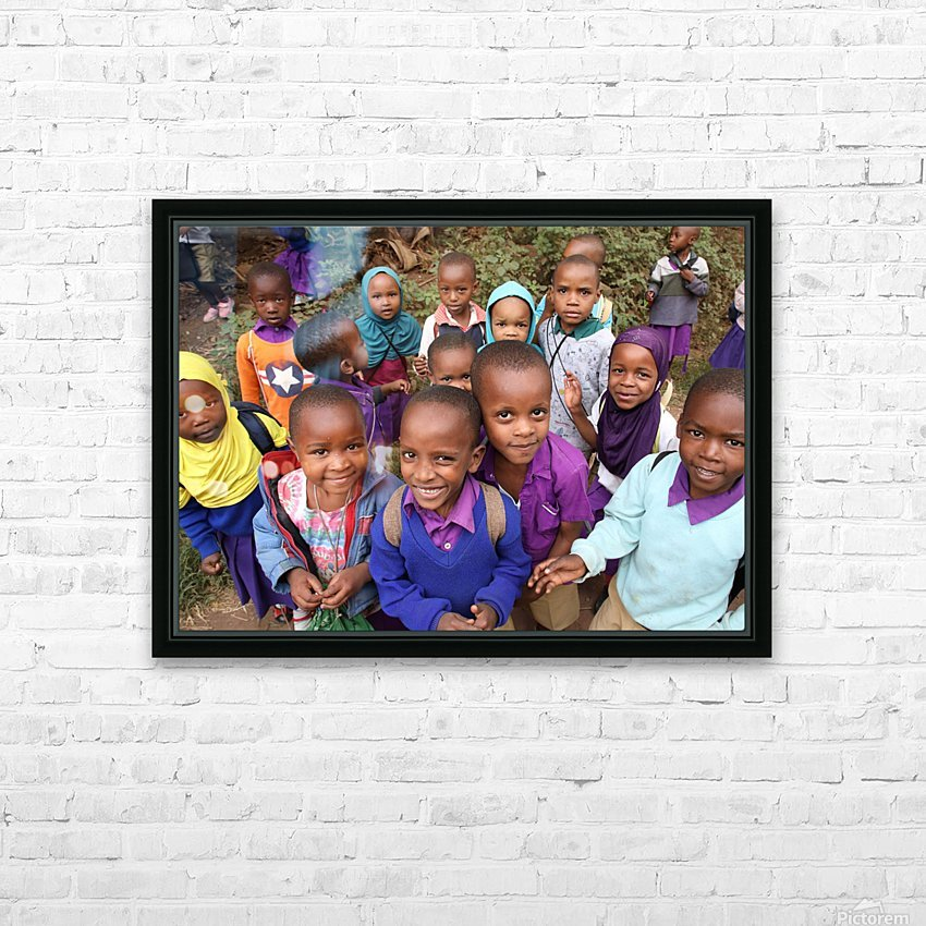 Many Faces of Africa HD Sublimation Metal print with Decorating Float Frame (BOX)