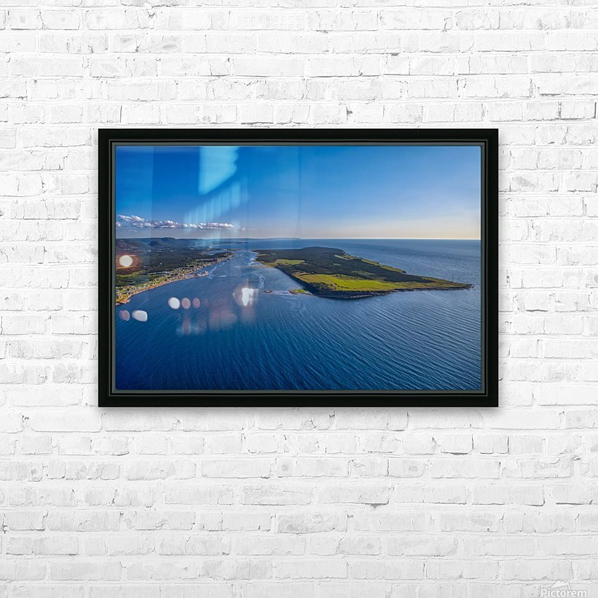 Cheticamp Aerial  HD Sublimation Metal print with Decorating Float Frame (BOX)