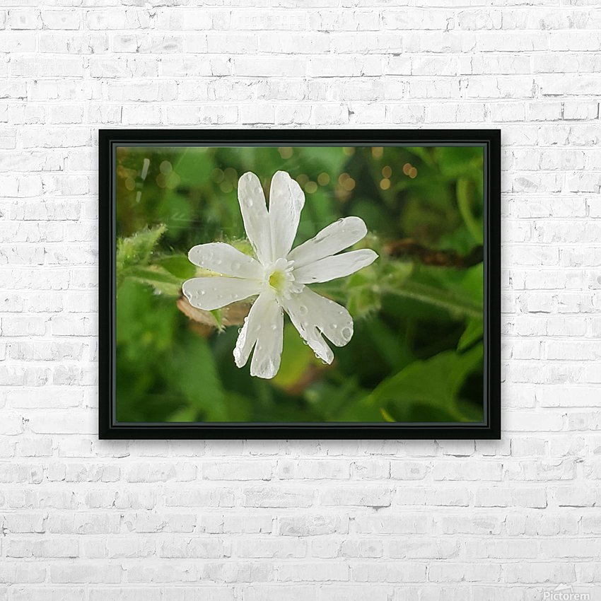 Flower shower HD Sublimation Metal print with Decorating Float Frame (BOX)