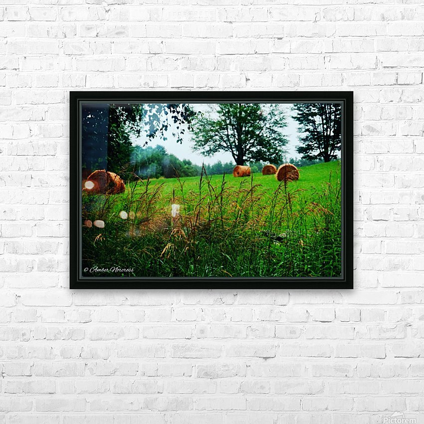 Round bales HD Sublimation Metal print with Decorating Float Frame (BOX)