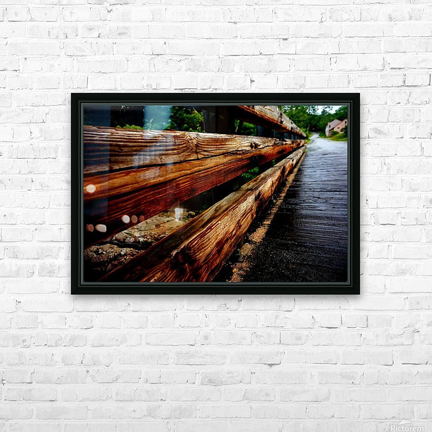 Wooden bridge HD Sublimation Metal print with Decorating Float Frame (BOX)