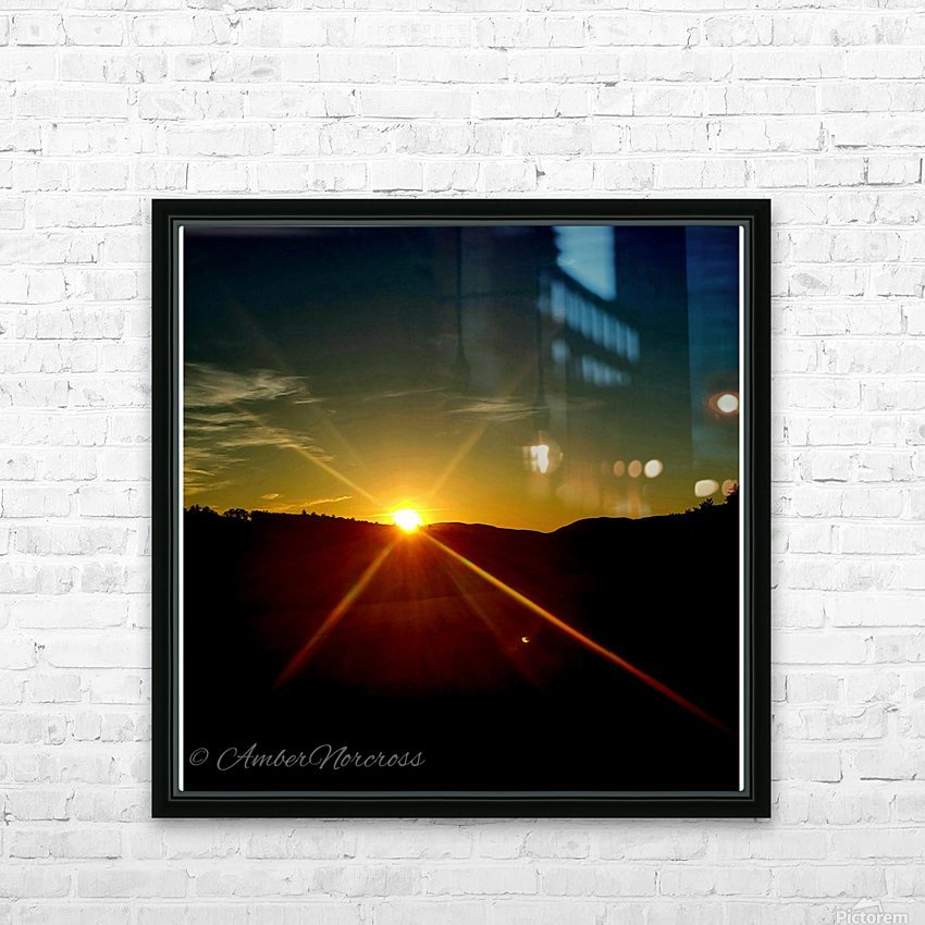 Glinting horizon HD Sublimation Metal print with Decorating Float Frame (BOX)