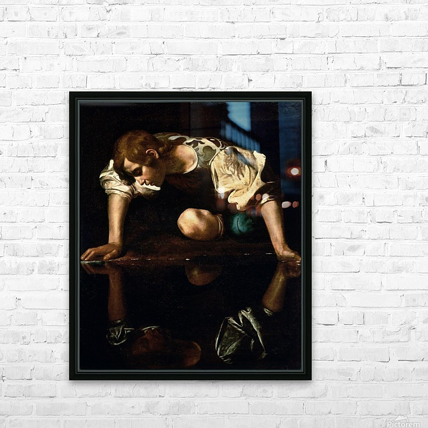 Narcissus HD Sublimation Metal print with Decorating Float Frame (BOX)