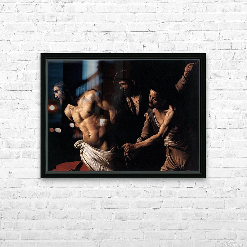 Christ at the column HD Sublimation Metal print with Decorating Float Frame (BOX)