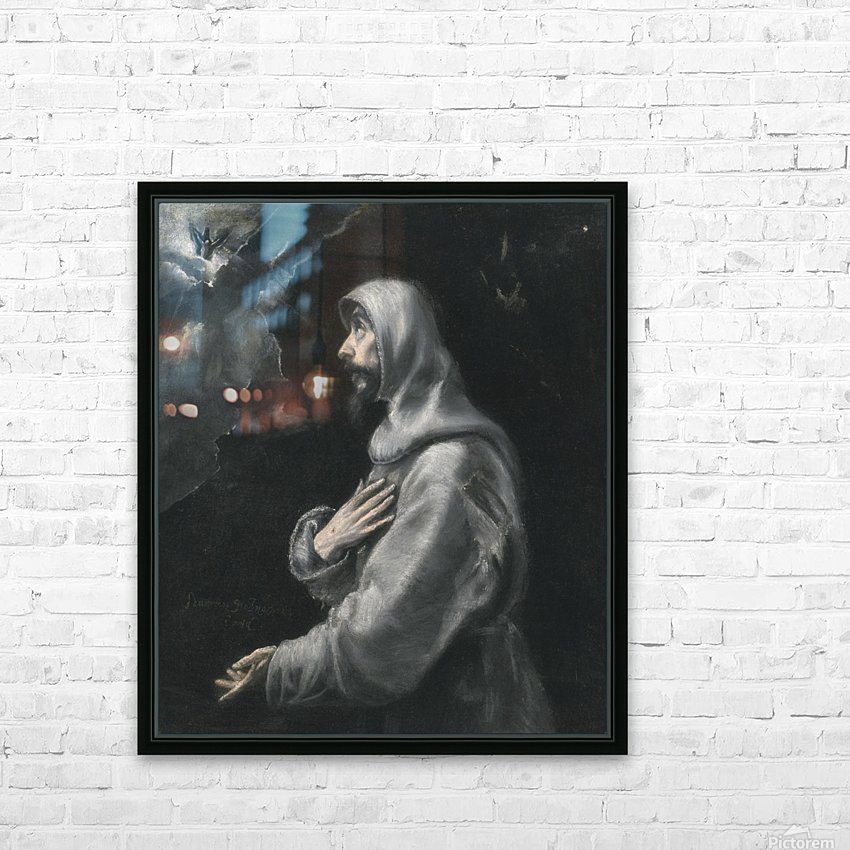 Saint Francis in Ecstasy HD Sublimation Metal print with Decorating Float Frame (BOX)