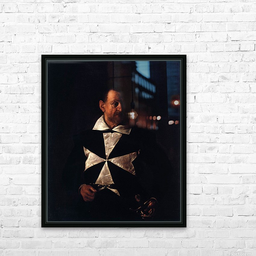 Portrait of a Maltese Knight HD Sublimation Metal print with Decorating Float Frame (BOX)