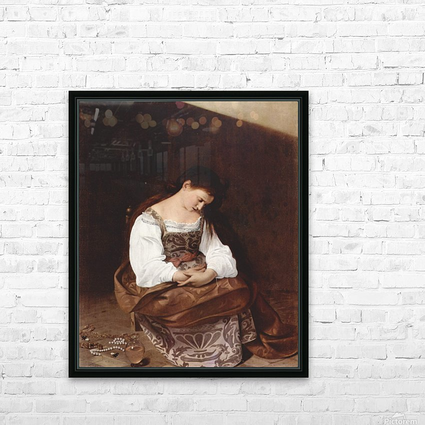 Penitent Magdalene HD Sublimation Metal print with Decorating Float Frame (BOX)