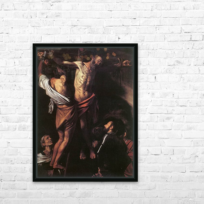 Crucifixion of Sant Andrew HD Sublimation Metal print with Decorating Float Frame (BOX)