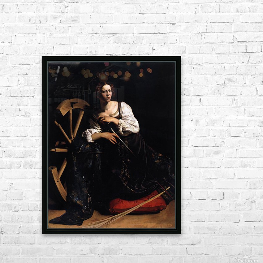 St Catherine of Alexandria HD Sublimation Metal print with Decorating Float Frame (BOX)