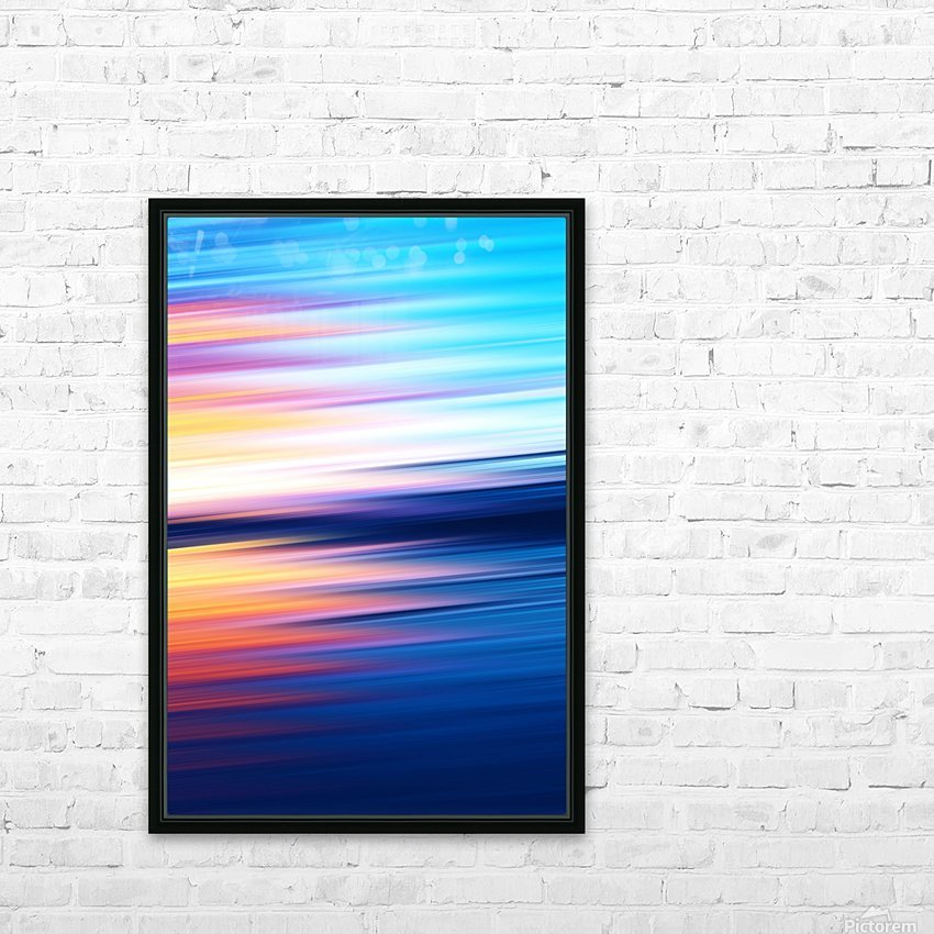 Abstract Sunset XI HD Sublimation Metal print with Decorating Float Frame (BOX)