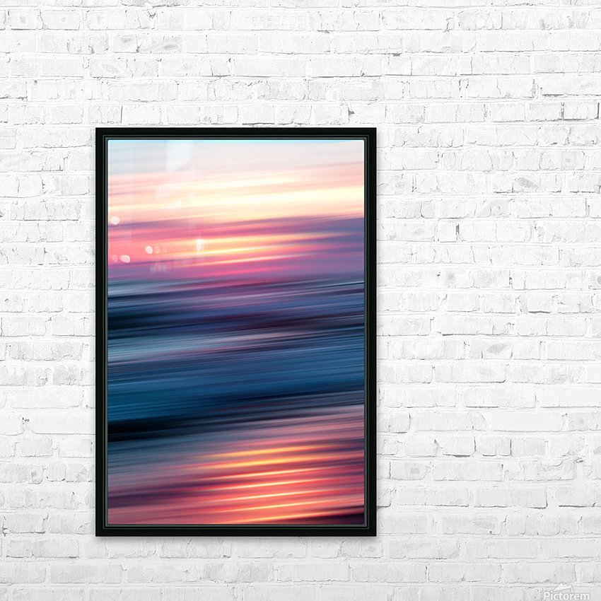 Abstract Sunset XII HD Sublimation Metal print with Decorating Float Frame (BOX)