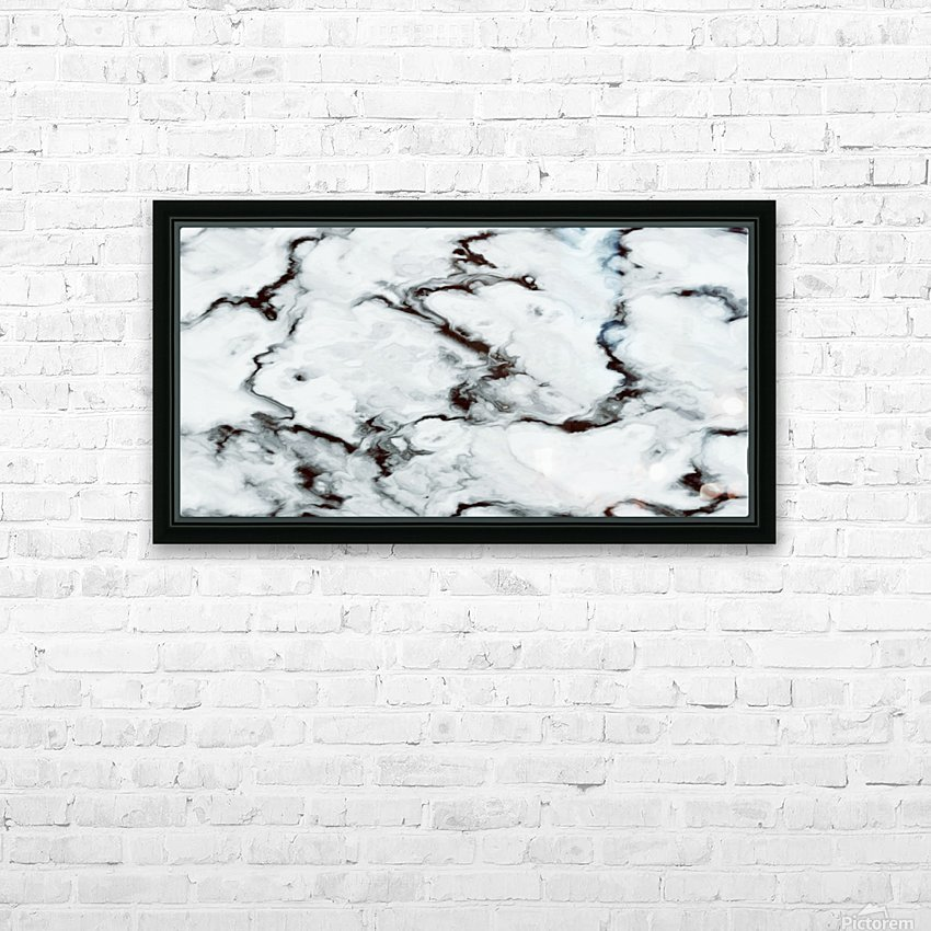 True White Marble - panoramic abstract wall art HD Sublimation Metal print with Decorating Float Frame (BOX)