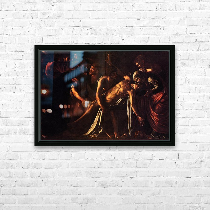 The ressurection of Lazarus HD Sublimation Metal print with Decorating Float Frame (BOX)