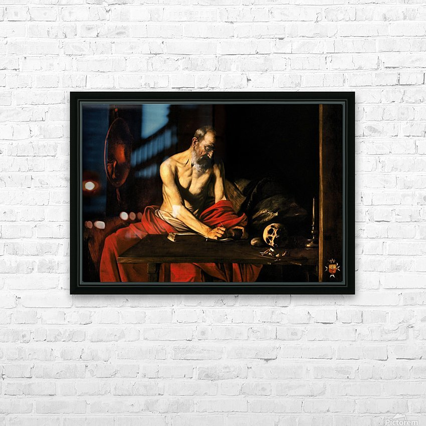 Saint Jerome writing HD Sublimation Metal print with Decorating Float Frame (BOX)