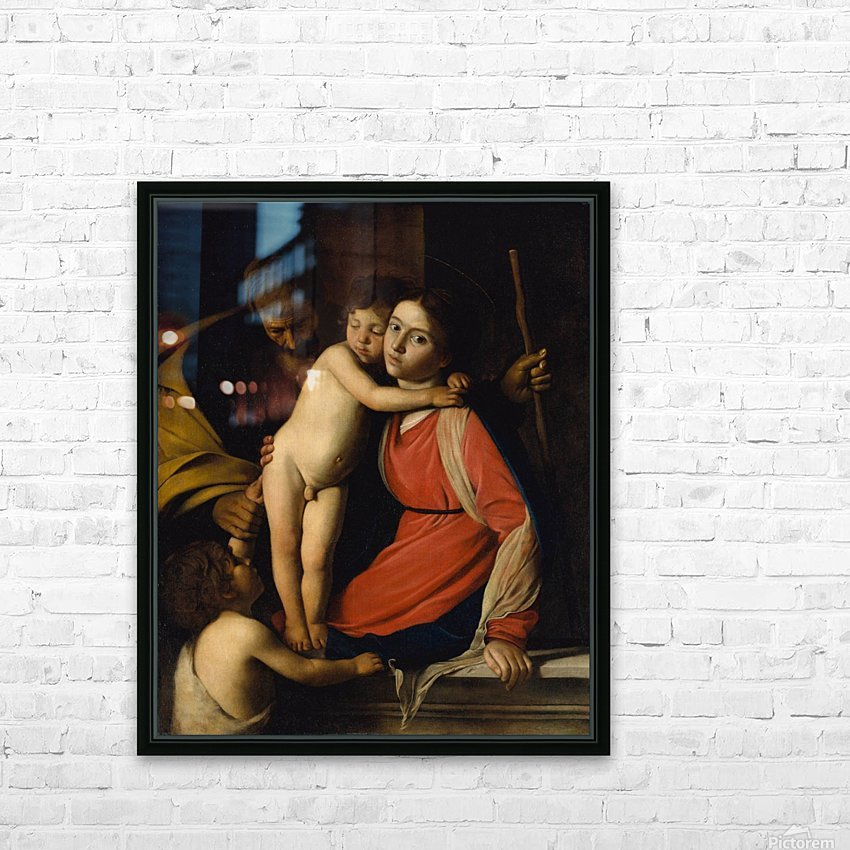 The Holy Family with the Infant St. John the Baptist HD Sublimation Metal print with Decorating Float Frame (BOX)