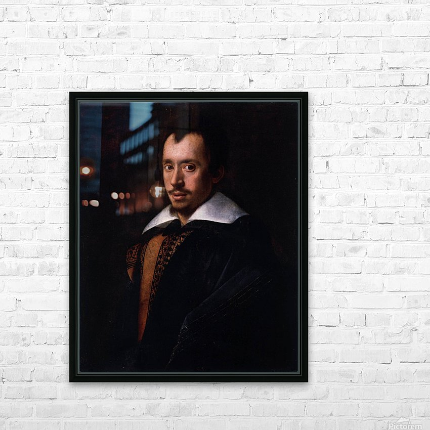 Portrait of the Poet Giambattista Marino HD Sublimation Metal print with Decorating Float Frame (BOX)