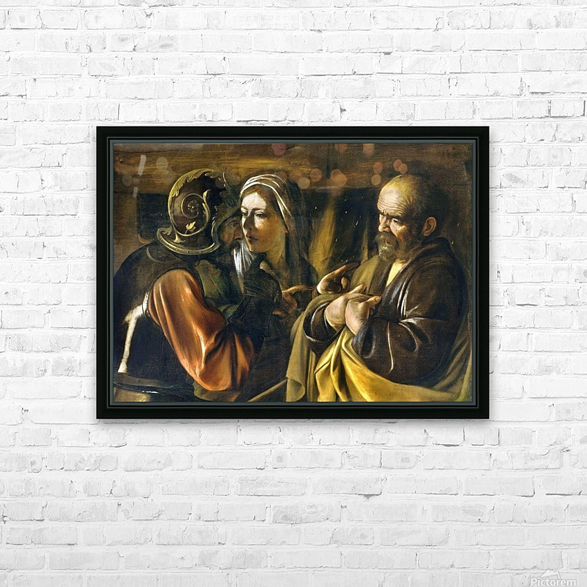 The Denial of Saint Peter HD Sublimation Metal print with Decorating Float Frame (BOX)