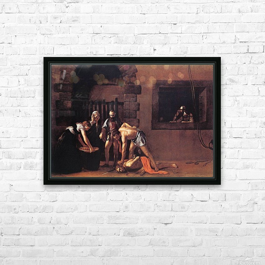 Beheading of Saint John the Baptist HD Sublimation Metal print with Decorating Float Frame (BOX)
