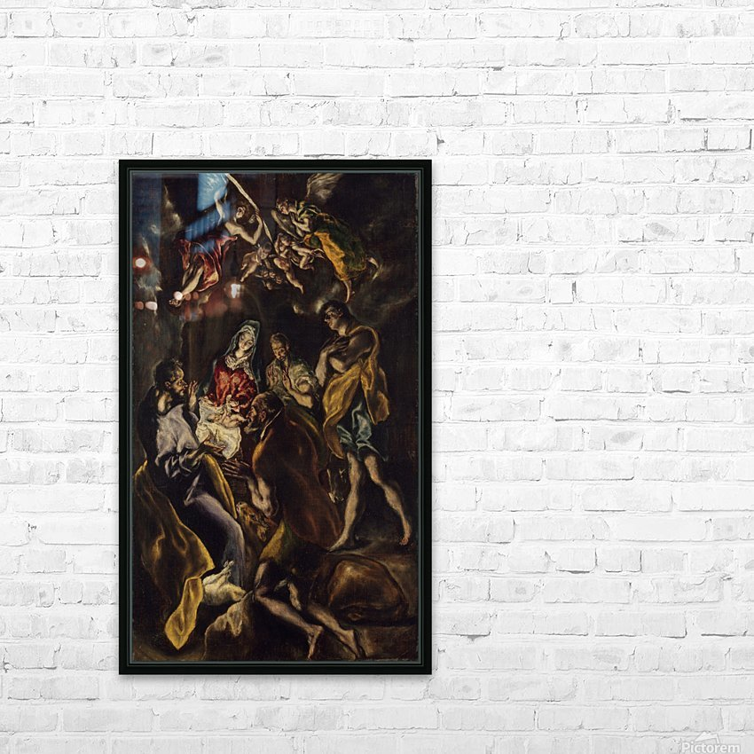 Adoration of the shepherds HD Sublimation Metal print with Decorating Float Frame (BOX)