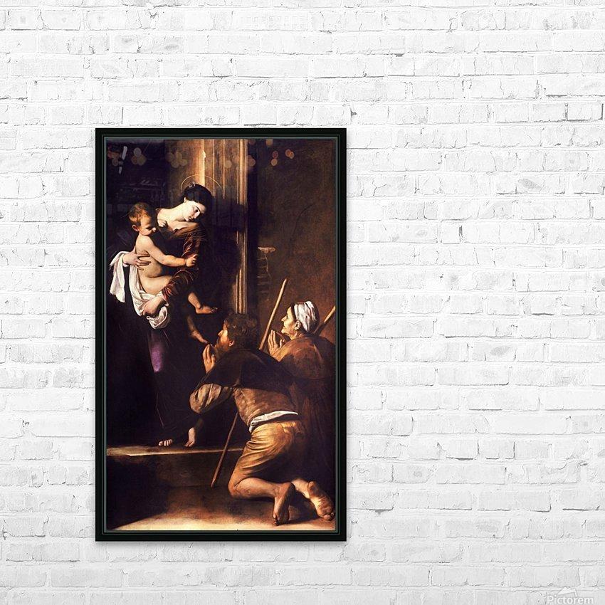 Madonna dei Pellegrini o di Loreto HD Sublimation Metal print with Decorating Float Frame (BOX)