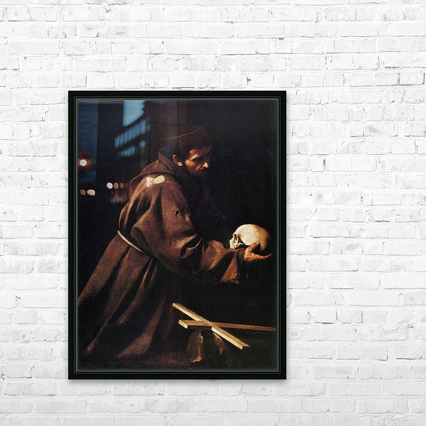 St Francis HD Sublimation Metal print with Decorating Float Frame (BOX)
