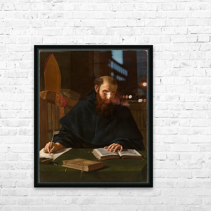 Saint Augustine in his study HD Sublimation Metal print with Decorating Float Frame (BOX)